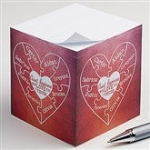 We Love You To Pieces Personalized Paper Note Cube - 16561