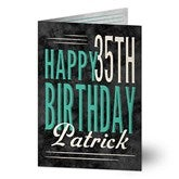 Vintage Age Personalized Greeting Card - 16565