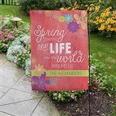 Spring Flowers Personalized Garden Flag - 16566
