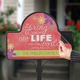 Spring Flowers Personalized Magnetic Garden Sign - 16567-M