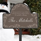 Family Blessing Personalized Yard Stake With Magnet - 16569-S