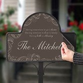 Family Blessing Personalized Magnetic Garden Sign - 16569-M