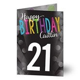Bold Birthday Personalized Greeting Card - 16570