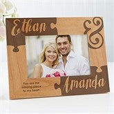 Missing Piece To My Heart Engraved Picture Frame- 4 x 6 - 16577-S