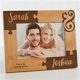 Missing Piece To My Heart Engraved Picture Frame- 5 x 7 - 16577-M