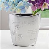 A Mom's Hug Personalized Silver Vase - 16580