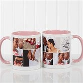 Create A Photo Collage Personalized Coffee Mug 11 oz.- Pink - 16584-P