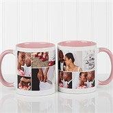 Create A Photo Collage Personalized Coffee Mug 11 oz.- Pink - 16584-P