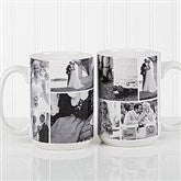 Create A Photo Collage Personalized Coffee Mug 15 oz.- White - 16584-L