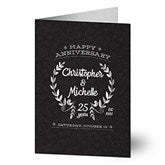 Happy Anniversary Personalized Greeting Card - 16589