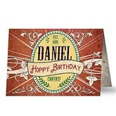 His Brew Personalized Greeting Card - 16590