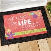 Spring Flowers Personalized Doormat-18x27 - 16591
