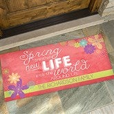 Spring Flowers Personalized Oversized Doormat- 24x48 - 16591-O