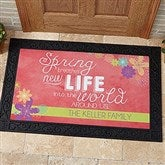 Spring Flowers Personalized Doormat- 20x35