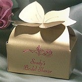 Bow Top Favor Boxes - Small Gold - 1659D-SG
