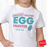 Easter Egg Hunter Personalized Hanes® Youth T-Shirt - 16601-YCT