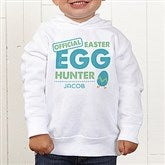 Easter Egg Hunter Personalized Toddler Hooded Sweatshirt - 16601-CTHS