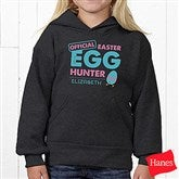 Easter Egg Hunter Personalized Hanes® Youth Hooded Sweatshirt - 16601-YHS