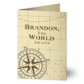 Compass Inspired Personalized Greeting Card - 16607