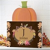 Autumn Hues Personalized Pumpkin Tabletop Decor - 16616