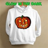 Glow In The Dark Pumpkin-  Toddler Hooded Sweatshirt - 1662-THS
