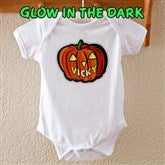 Glow In The Dark Pumpkin Baby Bodysuit - 1662-BB
