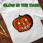Glow In The Dark Pumpkin- Youth T-Shirt - 1662-YT