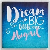 Sweet Dreams Baby Personalized Canvas Print- 16