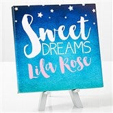 Sweet Dreams Baby Personalized Canvas Print -8