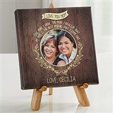 Dear Mom Personalized Photo Canvas Print- 5½ x 5½ - 16630-5x5