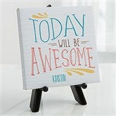 Daily Inspiration Personalized Photo Canvas Print- 5½ x 5½ - 16631-5x5
