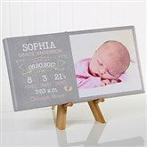 I Am Special Birth Info Personalized Photo Canvas Print- 5½