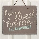 Front Door Greetings Personalized Slate Plaque - 16636