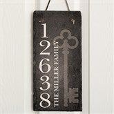 House Key Personalized Address Slate Plaque - 16638