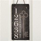 House Key Personalized Address Slate Plaque - 16638