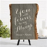 Rustic Romance Personalized Basswood Plank - 16642