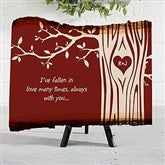 Carved in Love Personalized Basswood Plank - 16643