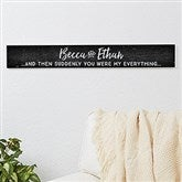 Romantic Quotes Personalized Wood Sign