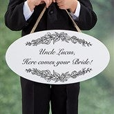 Write Your Own Personalized Wedding Oval Wood Sign - 16646