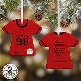 2-Sided Baseball Sports Jersey Personalized T-Shirt Ornament - 16656-2