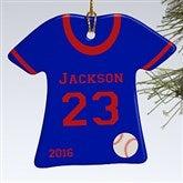 1-Sided Baseball Sports Jersey Personalized T-Shirt Ornament - 16656-1