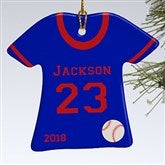 1-Sided Baseball Sports Jersey Personalized T-Shirt Ornament - 16656-1