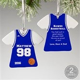 2-Sided Basketball Sports Jersey Personalized T-Shirt Ornament - 16657-2