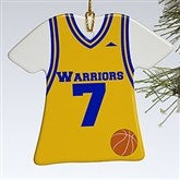1-Sided Basketball Sports Jersey Personalized T-Shirt Ornament - 16657-1