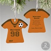 2-Sided Soccer Sports Jersey Personalized T-Shirt Ornament - 16658-2