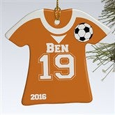 1-Sided Soccer Sports Jersey Personalized T-Shirt Ornament - 16658-1