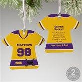 2-Sided Hockey Sports Jersey Personalized T-Shirt Ornament - 16659-2