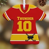 1-Sided Hockey Sports Jersey Personalized T-Shirt Ornament - 16659-1