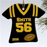 1-Sided Football Sports Jersey Personalized T-Shirt Ornament - 16660-1