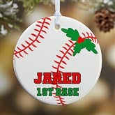 1 Sided Baseball Personalized Ornament-Small - 16665-P
